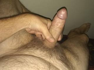 I am horny and had to stroke my wanting cock