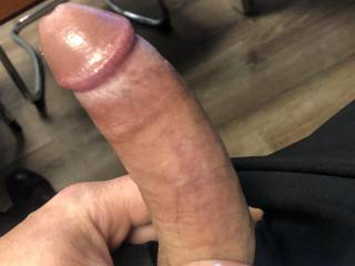 Secretary taking care of this throbbing cock and making me blow a big load.