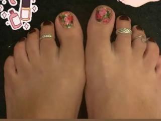 Friends feet from work