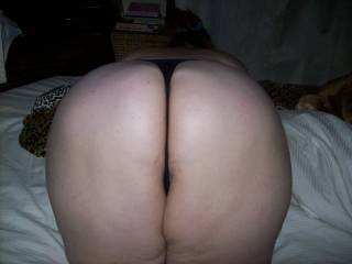 A recent bbw playmate showing me her big round ass before we play