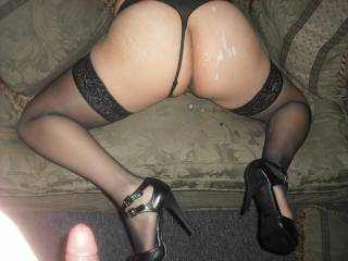 Can I fuck you while you're like that and add a another nice load of cum on your beautiful ass.