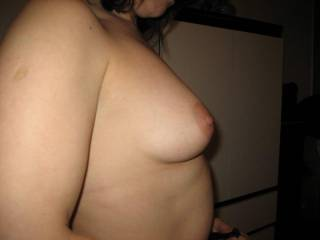 oh, man its enough, thats a really great pictuer of your awesome breasts. i really like it with the big hard nipples. you are soooo sexy. if you want to get to know a nice dude better. check my profile and decide for yourself. id really be happy when you cobtact me.