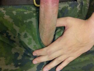 Tracing the flared ridge of your cock head with the tip of my tongue. Would be my pleasure