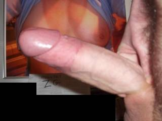 Wow.  I would love to see that big cock with my pics.
