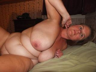 Very nice and hot! I would love to suck on those tits and make some pics for your hubby.