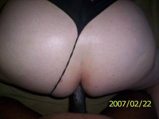 A lovely picture of me fucking a tight white ass with my thick black cock all up inside of her tight asshole. Does it make you hot ladies? You like what you see?