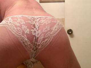 Wearing only panties around the house today!