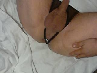 horny in panties playing