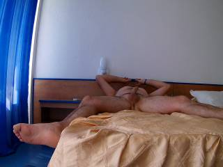 waiting for my wife...to do a blowjob