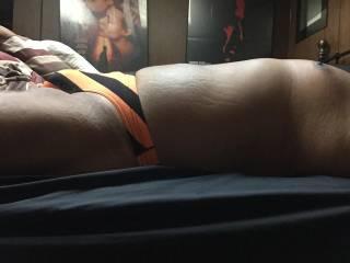 Orange Stripe Bikini