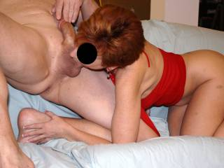 Would love to be fucking her doggie style while she is sucking his balls!!!