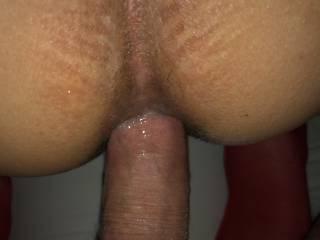 Love to slide my big cock inside her anal