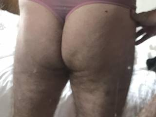 Tucked him away in pink thong for Easter shopping trip Decided to show rear view and test mirror shot! May enter this months competitions! Zoomed in! What do you think??