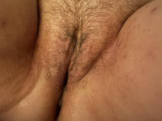 Ingrid's pussy after her husband and I dropped our loads in her