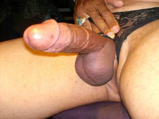 Black lace is very kinky and makes my cock big and hard>>>