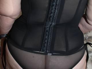 new corset with sheer panties