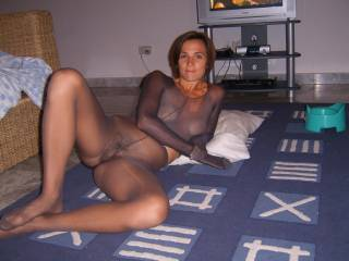 Wow you are fucking hot, I would rip those stockings and give your pussy and asshole the licking of their lives. Then I would love to look into your pretty face as you gag on my cock