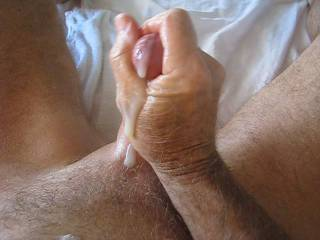 That is the HOTTEST way to me to watch a man cum !!!!!!!!!! Laying on his back and letting all that hot thick cum run down his cock !!!!!!!!!