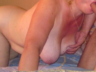 Wow  would love to have you suck my cock while  I played with those fantastic tits. Nice.