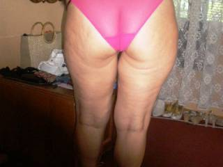 do you think my ass looks good in pink panties or would you like to take them off