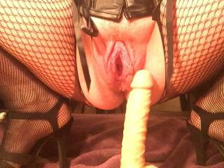 Mabel\'s pussy is hungry to feel the dildo slide back in.