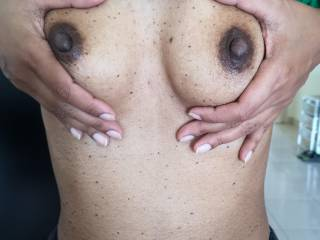 I love squeezing my perky tits ;-)