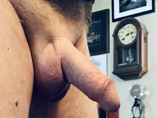 Just shaved. Showing off my cock and ballsack.
