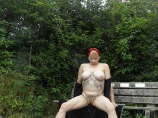 hi all found a nice quiet country park, now I can really get naked when I feel like it. dirty comments welcome mature couple