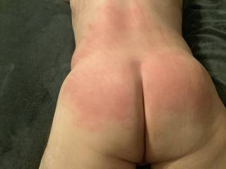 Look how red I have his ass and back!!! I love it!!!