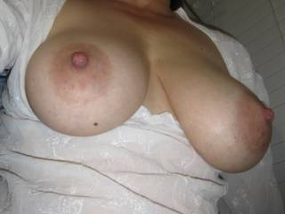 My tits in your face!