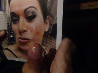for Nik80 and Gabby per request we jack off on her hot face covering it in cum whos next?
