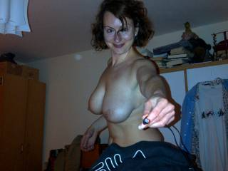 Wow. Great picture. Hot body awesome big tits and a verry pretty face. Made my cock hard for you