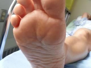Pretty bare feet of my wife