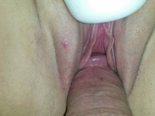 I'll cum closer and then I'm going to lick that tasty little pussy of yours