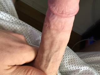 Who wants to suck then sit on this smooth young hard cock?
