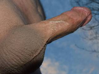 Underside of my cock while playing outside
