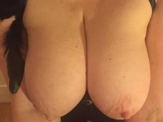 Just needs Merv's beautiful cock nestled in my cleavage.