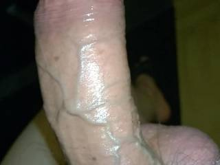 My big cock nasty as always. His balls tied up so his veins pops up nicely. This is how a cock should be. Don't you think?