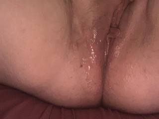 My well used pussy, juicy pussy juice and cum
