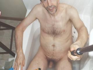 Bath selfie body scene from July 2021...