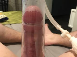 Big pumping session while away in Motel on Business