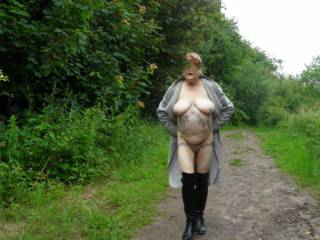 hi all here we are again the sun is out no one is around, it is time to get some exercise  dirty comments welcome mature couple
