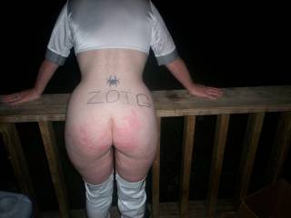 my ass after a good spanking! anyone else been bad and need a spanking?