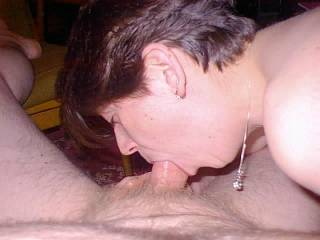 my cock deep in her mouth