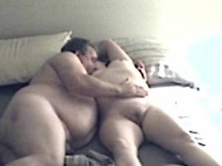 My slut wife & her lover play again...  Part 4.  Sorry about the sound.