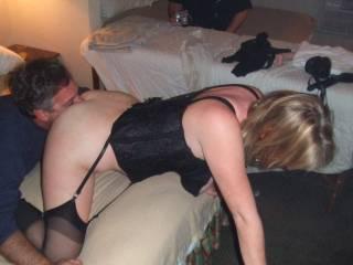 making the cuck suck my cum from her ass