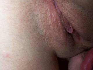 licking my wife\'s pussy in 69.