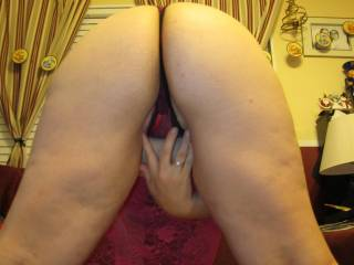 Mmm so fucking hot! You bent over like that telling me to jack off! And I am!
