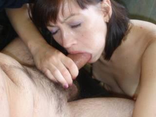 looks like she gives a GREAT blowjob!
