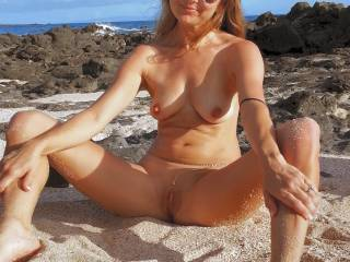 I\'m just taking it all in, i love being nude outdoors!